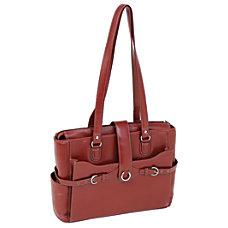 McKlein Leather Laptop Case Isabella Red