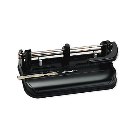 Swingline® Lever-Handle Heavy-Duty Paper Punch, Black