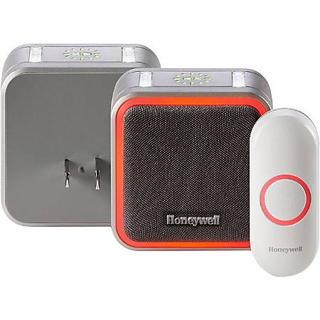 Honeywell 5 Series Plug-In Wireless Doorbell With Halo Light And Push Button, RDWL515P2000E