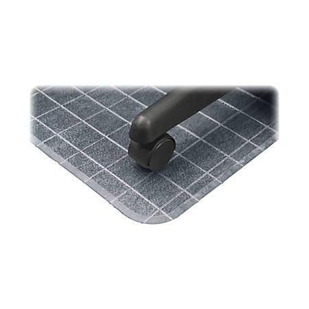 "Deflect-O DuraMat Checkered Chair Mat For Low-Pile Carpet, 53"" x 45"", Clear"