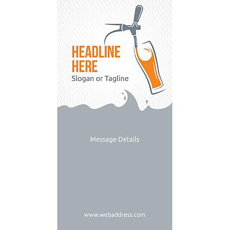 Custom Vertical Banner, Beer Tap Glass