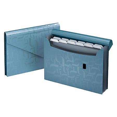 "Office Depot® Brand 13-Pocket Poly Expanding File, 9 1 1/6"" x 13 1/2"", Blue"