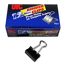 OIC Binder Clips Mini 916 Black