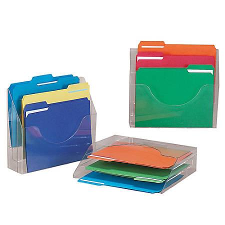 """Eldon® Optimizers™ 3-Tier Organizer, Letter Size, 11 1/2""""H x 13""""W x 3 1/2""""D, Clear"""