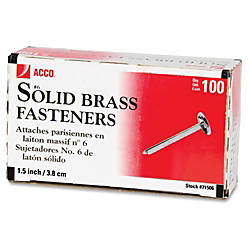 ACCO Round Head Solid Brass Fasteners