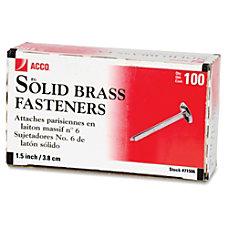 ACCO Round Head Solid Brass Fasteners