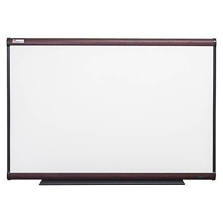 "SKILCRAFT® Total Erase Dry-Erase White Board, Steel, 36"" x 24"", Mahogany Wood Laminate Frame (AbilityOne 7110-01-622-2128)"