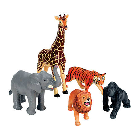 Learning Resources® Jumbo Jungle Animals, Grades Pre-K - 3, Set Of 5
