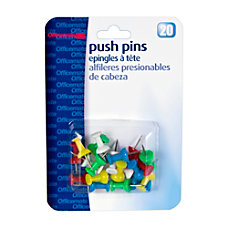 OIC Pushpins Assorted Colors Pack Of