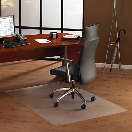 "Floortex Ultimat Polycarbonate Chair Mat For Hard Floors, 48"" x 53"""