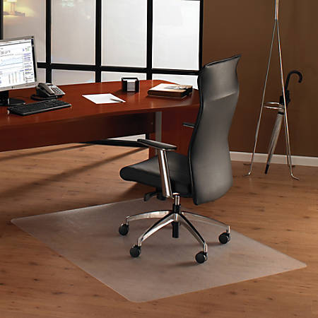 "Floortex Ultimat Polycarbonate Chair Mat For Hard Floors, 48"" x 60"""