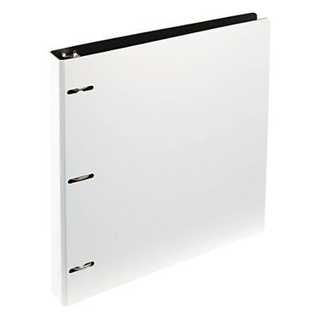 """Office Depot® Brand Binder, 1"""" Rings, White"""