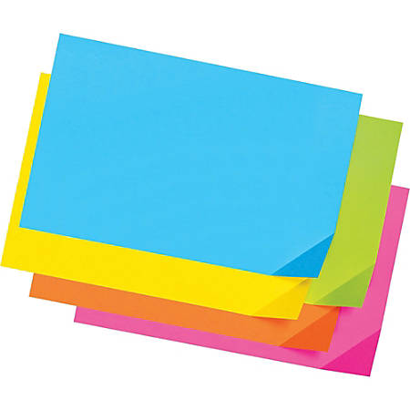 "Pacon® Colorwave Super Bright Tag Board, 12"" x 18"", Assorted Colors, Pack Of 100"