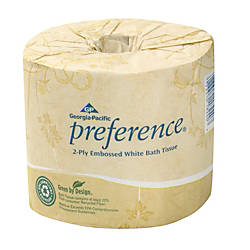 Georgia Pacific Preference Embossed Bathroom Tissue