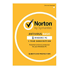 Norton AntiVirus Basic 1 Year Subscription
