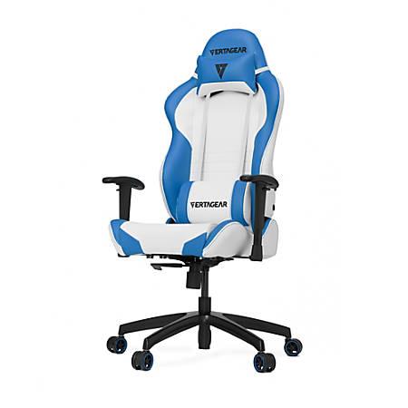 Vertagear Racing Series S-Line SL2000 Gaming Chair, White/Blue