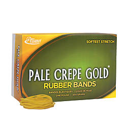 alliance pale crepe gold rubber bands 16 2 12 x 116 1 lb box of 2675 by office depot officemax. Black Bedroom Furniture Sets. Home Design Ideas