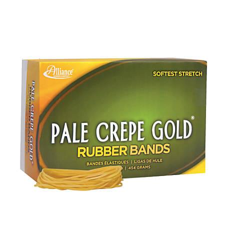 "Alliance® Pale Crepe Gold® Rubber Bands, #19, 3 1/2"" x 1/16"", 1 Lb, Box Of 1,890"
