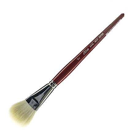 "Silver Brush Mop Paint Brush, 1"", Oval Bristle, Goat Hair, Dark Red"