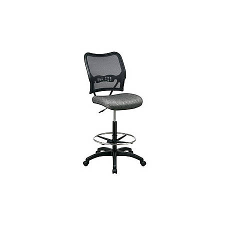 Office Star™ Space Fabric Drafting Chair With Nylon Base, Dark Pewter