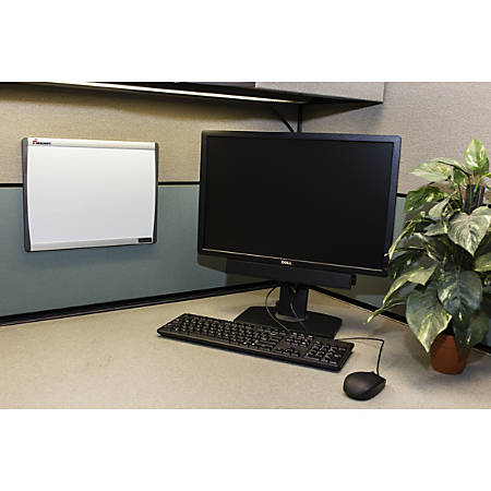 "SKILCRAFT® Cubicle Magnetic Dry-Erase White Board, Painted Steel, 14"" x 11"", Silver Aluminum Frame (AbilityOne 7110-01-622-2132)"
