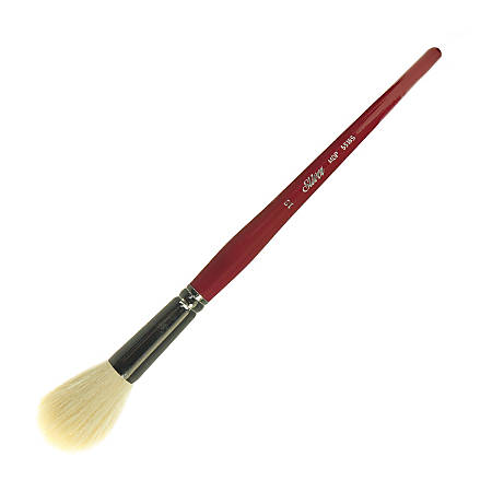 Silver Brush Mop Paint Brush, Size 16, Round Bristle, Goat Hair, Natural, Dark Red