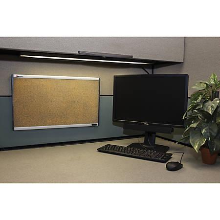 "SKILCRAFT® Cork Bulletin Board, Self-Healing Cork, 14"" x 24"", Silver Aluminum Frame (AbilityOne 7195-01-622-2141)"