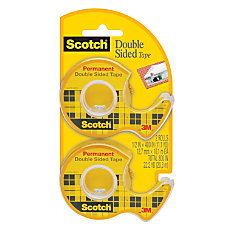 Scotch Double Sided Permanent Tape In