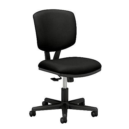 "HON® Volt 5703 Task Chair, 40""H x 25 3/4""W x 25 3/4""D, Black/Black"