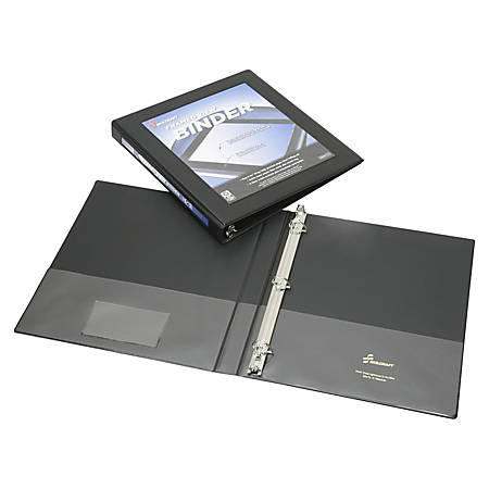 """SKILCRAFT® Frame View Binder, 1/2"""" Rings, 45% Recycled, Black (AbilityOne 7510-01-462-1384)"""