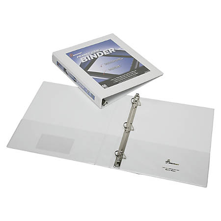 "SKILCRAFT® Frame View Binder, 1"" Rings, 45% Recycled, White (AbilityOne 7510-01-462-1386)"