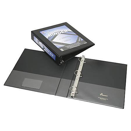 """SKILCRAFT® Frame View Binder, 1 1/2"""" Rings, 45% Recycled, Black (AbilityOne 7510-01-462-1389)"""