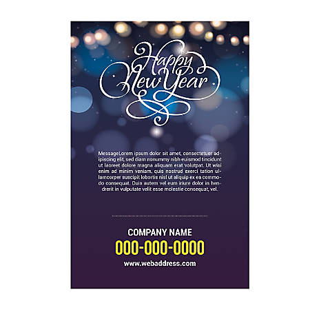 Plastic Sign Template, New Year Light, Vertical