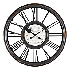 FirsTime Co Sutton Wall Clock Black