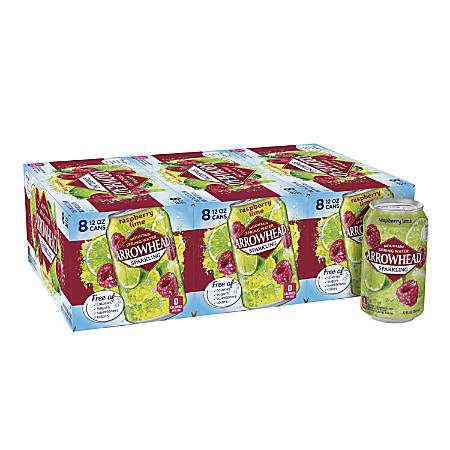 Nestlé® Waters Sparkling Spring Water, Raspberry Lime, 12 Oz, Pack Of 24 Cans