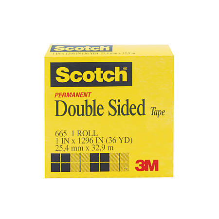 scotch 665 permanent double sided tape 1 x 1296 by office. Black Bedroom Furniture Sets. Home Design Ideas