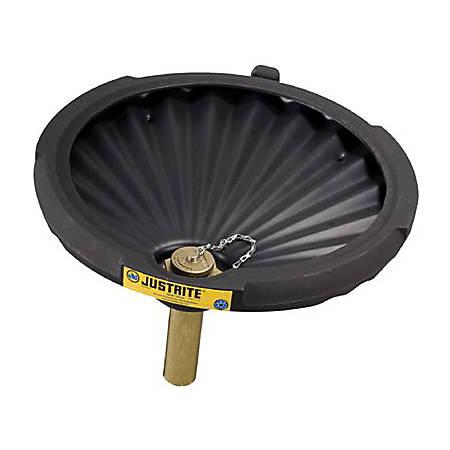 "Justrite® Spill Control Funnel, 3 1/4"" x 21"", Black"
