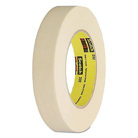"Scotch® 232 Masking Tape, 1/2"" x 60 Yd."