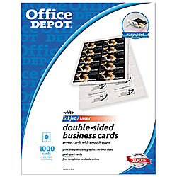 Office depot brand double sided business cards 2 x 3 12 white pack office depot brand double sided business cards 2 x 3 1 reheart Images