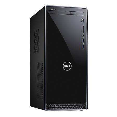 Dell™ Inspiron 3670 Desktop PC, Intel® Core™ i7, 8GB Memory, 1TB Hard Drive/256GB Solid State Drive, Windows® 10, I3670-7663BLK-PUS