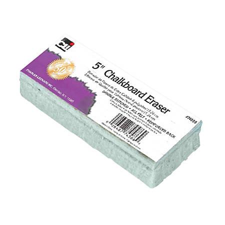 Charles Leonard, Inc. Standard Chalkboard Erasers, White, Pack Of 12