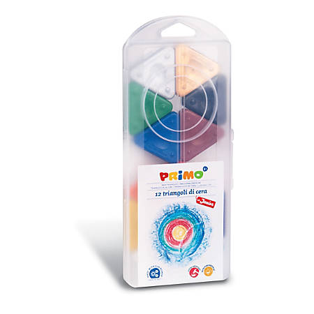Primo Triangle Crayons, Assorted Colors, Pack Of 12 Crayons