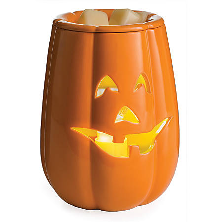 "Candle Warmers Etc Illumination Fragrance Warmers, 8-13/16"" x 5-13/16"", Jack O'Lantern, Case Of 6 Warmers"