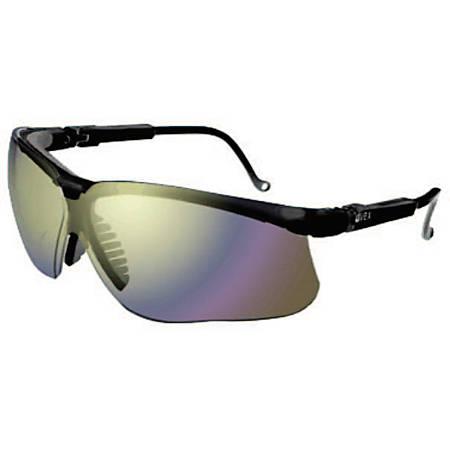 Genesis Eyewear, Mirror Lens, Polycarbonate, Ultra-dura, Black Frame