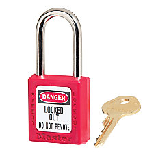 Master Lock Red Safety Padlock
