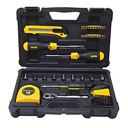 Stanley® 51-Piece Mixed Tool Set, Black