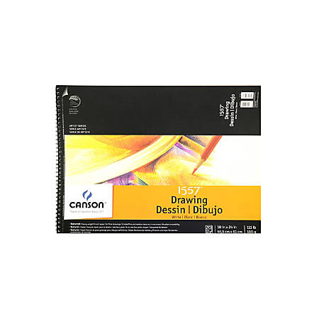 "Canson C A Grain Drawing Paper Pad, 18"" x 24"", 20 Sheets"