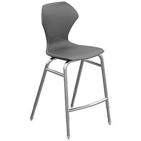 Marco Group Apex Series Adjustable Stool, Charcoal/Chrome