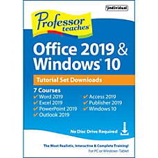 Professor Teaches Office 2019 Windows Tutorial
