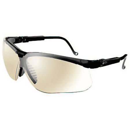 Genesis Eyewear, SCT-Reflect 50 Lens, Polycarbonate, Ultra-dura, Black Frame